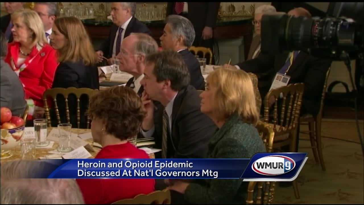New Hampshire's opioid crisis was one of the topics discussed at the National Governors Association annual winter meeting.