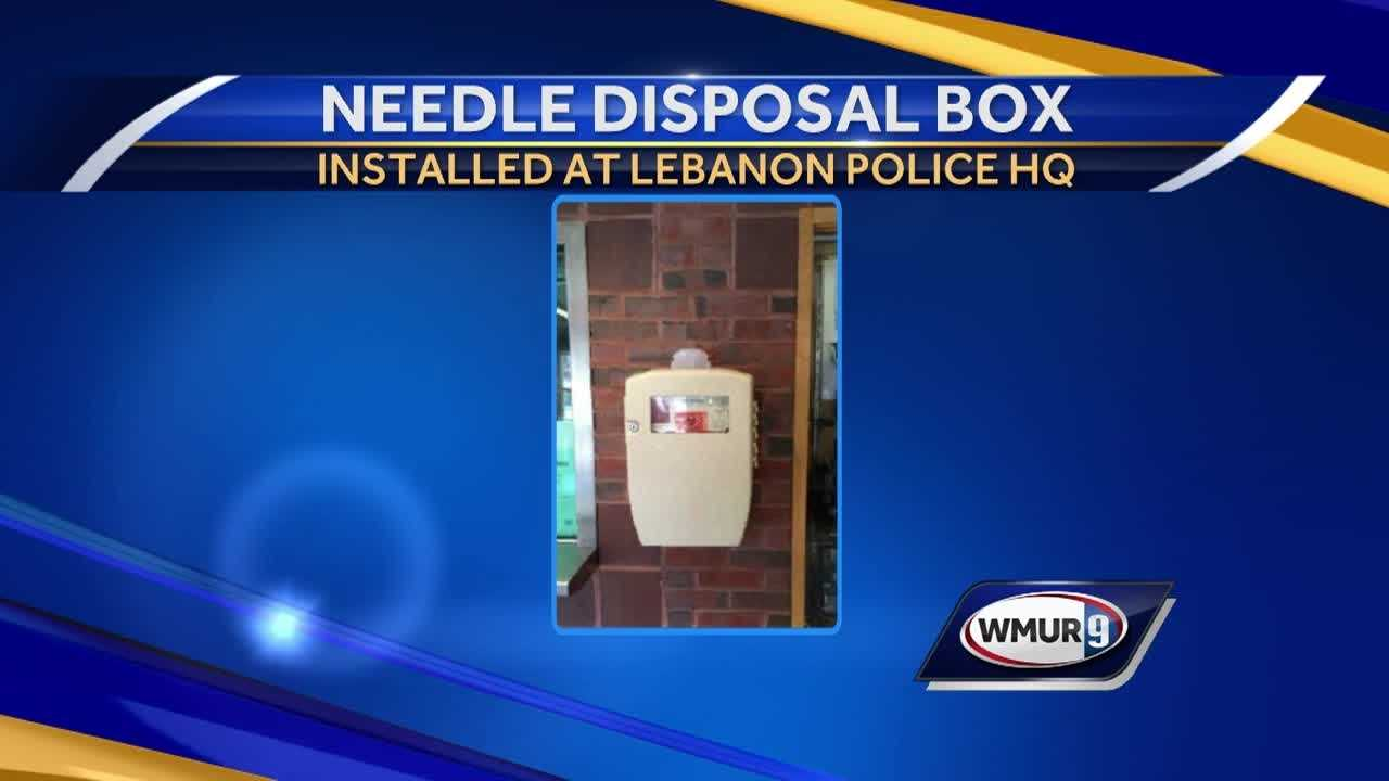 A sharps disposal container has been installed in the Lebanon police headquarters.