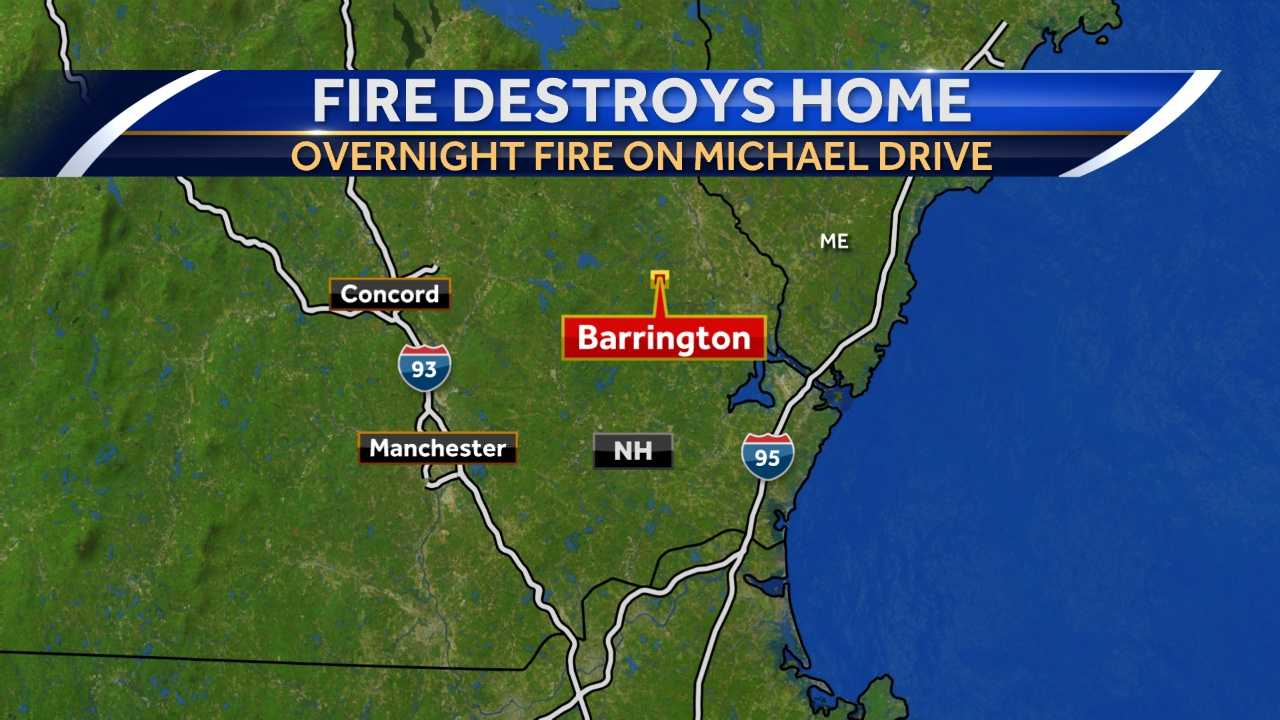 Fire officials in Barrington are trying to figure out what sparked an early-morning fire that destroyed a home.
