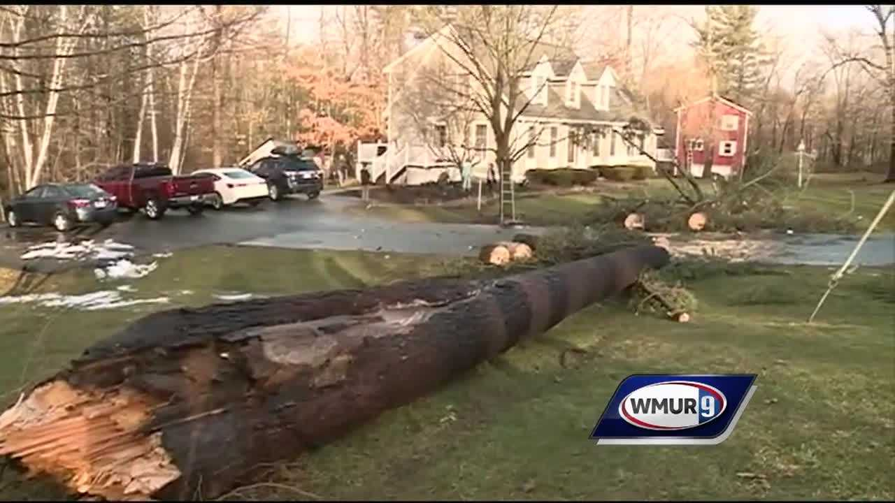Severe storms moved through New Hampshire overnight Wednesday into Thursday, leading to flooding, downed trees and outages
