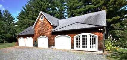 A large four car garage is also located on the property so you will not have to leave your car out in the elements of the harsh winter.