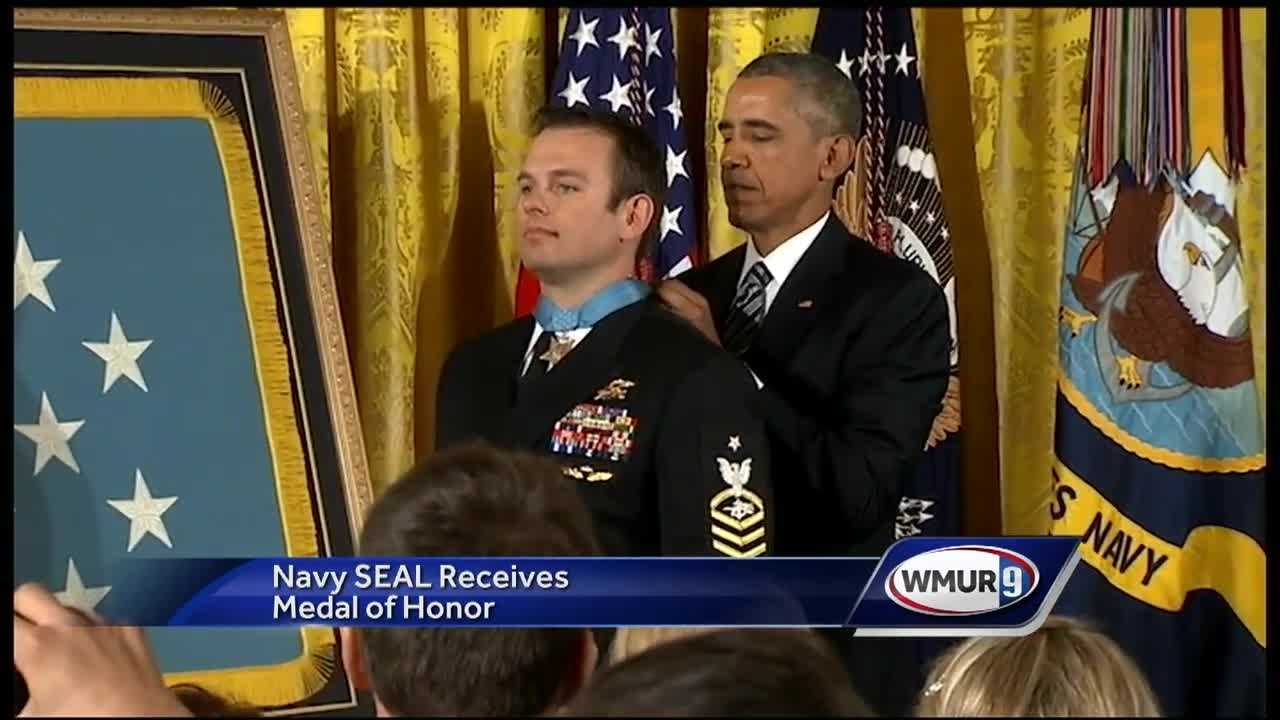 For the first time an active member of the Navy has received the medal of honor.