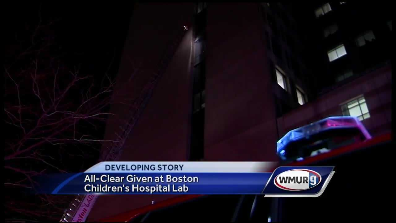 Crews responded to a level 3 hazmat situation at a Boston Children's Hospital lab building Monday evening.