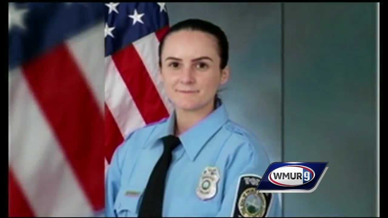 A young police officer who graduated from a New Hampshire high school was remembered Tuesday in the community she was hired to protect.