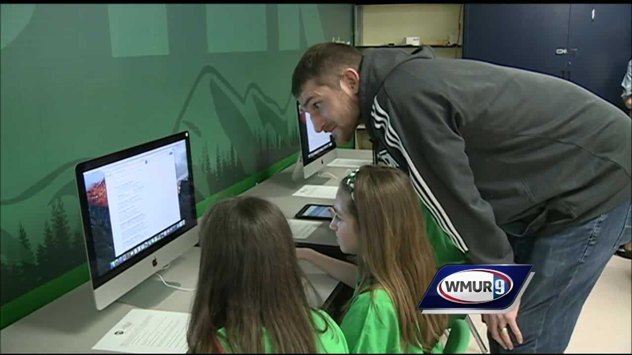 Rochester middle school received a new tech lab as a donation from SNHU and the Boston Celtics.