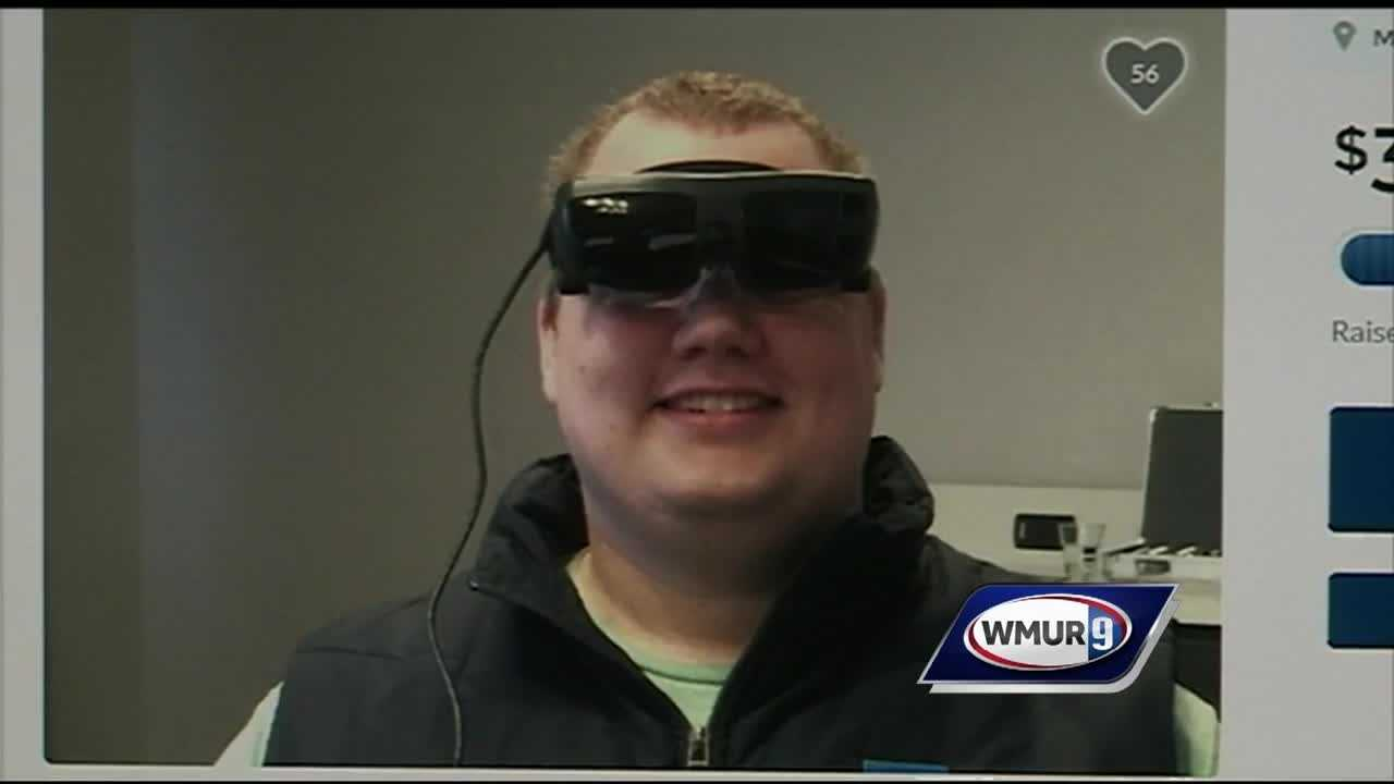 A legally blind man is raising money on a gofundme page to afford a new technology that will allow him to see.