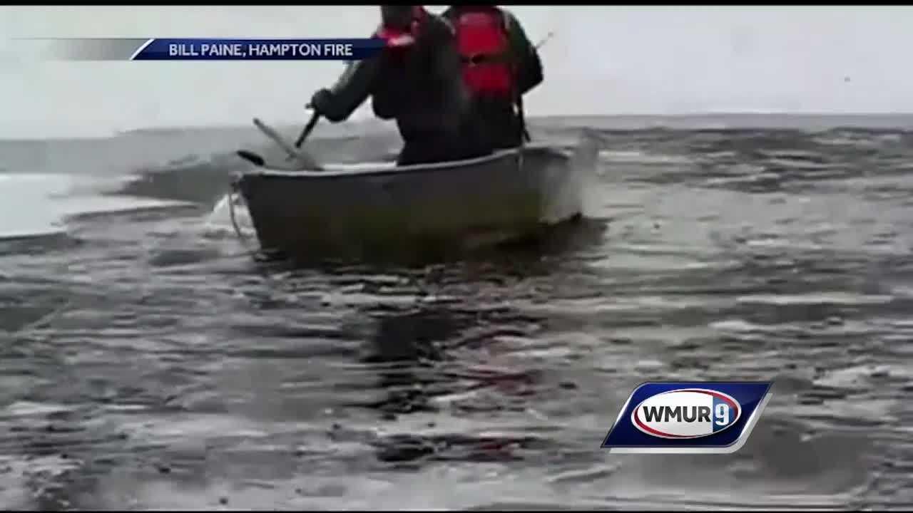 Hampton fire crews rescue dog from frigid water