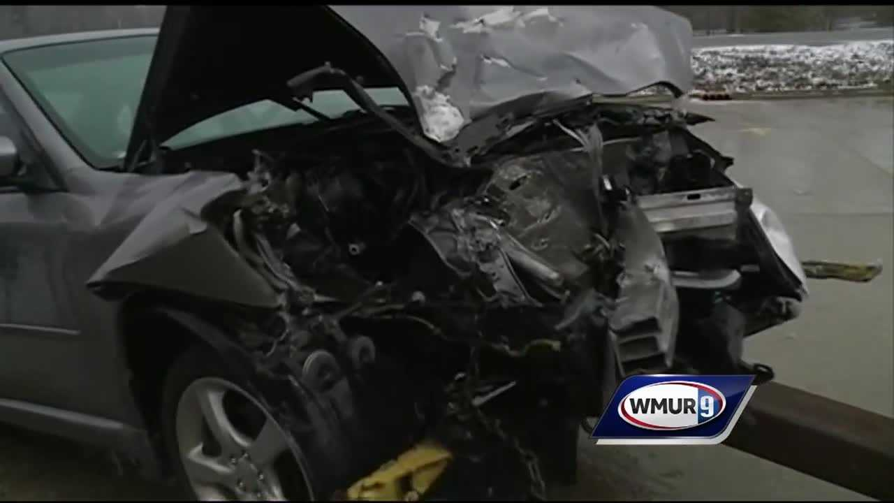 Up to 50 cars were involved in several crashes on the southbound side of I-93 on Friday morning.