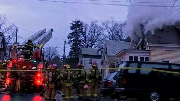 Two people were killed and three people were injured in a house fire in Orange, Massachusetts on Saturday evening, officials say.