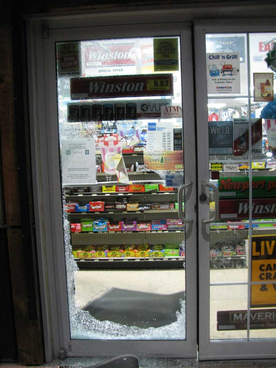 Mammoth Convenience store owners provided Pelham police with surveillance video showing Jonathan Flynn, 19, of Pelham, smashing the glass front door and stealing cartons of cigarettes, lottery tickets and other items while the Subaru waited at the rear of the store.