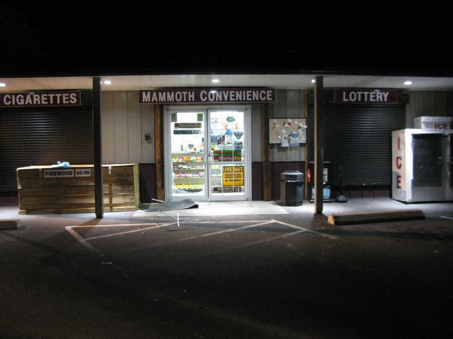 At 1:11 a.m. Sunday, a Pelham police officer said a black 2005 Subaru Outback sedan was parked behind the Mammoth Convenience store with its headlights on.