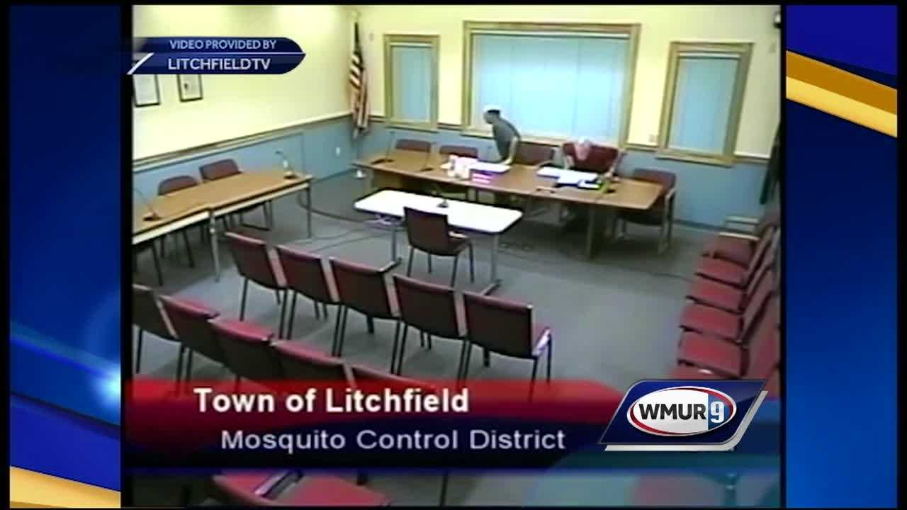 John Latsha and Al Raccio are chair and vice chair of the Litchfield Mosquito Control District, and when no one showed up to their town meeting, they carried on as if the room was full of Litchfield residents.