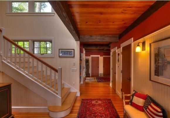 The beautiful interior features hardwood floors throughout.