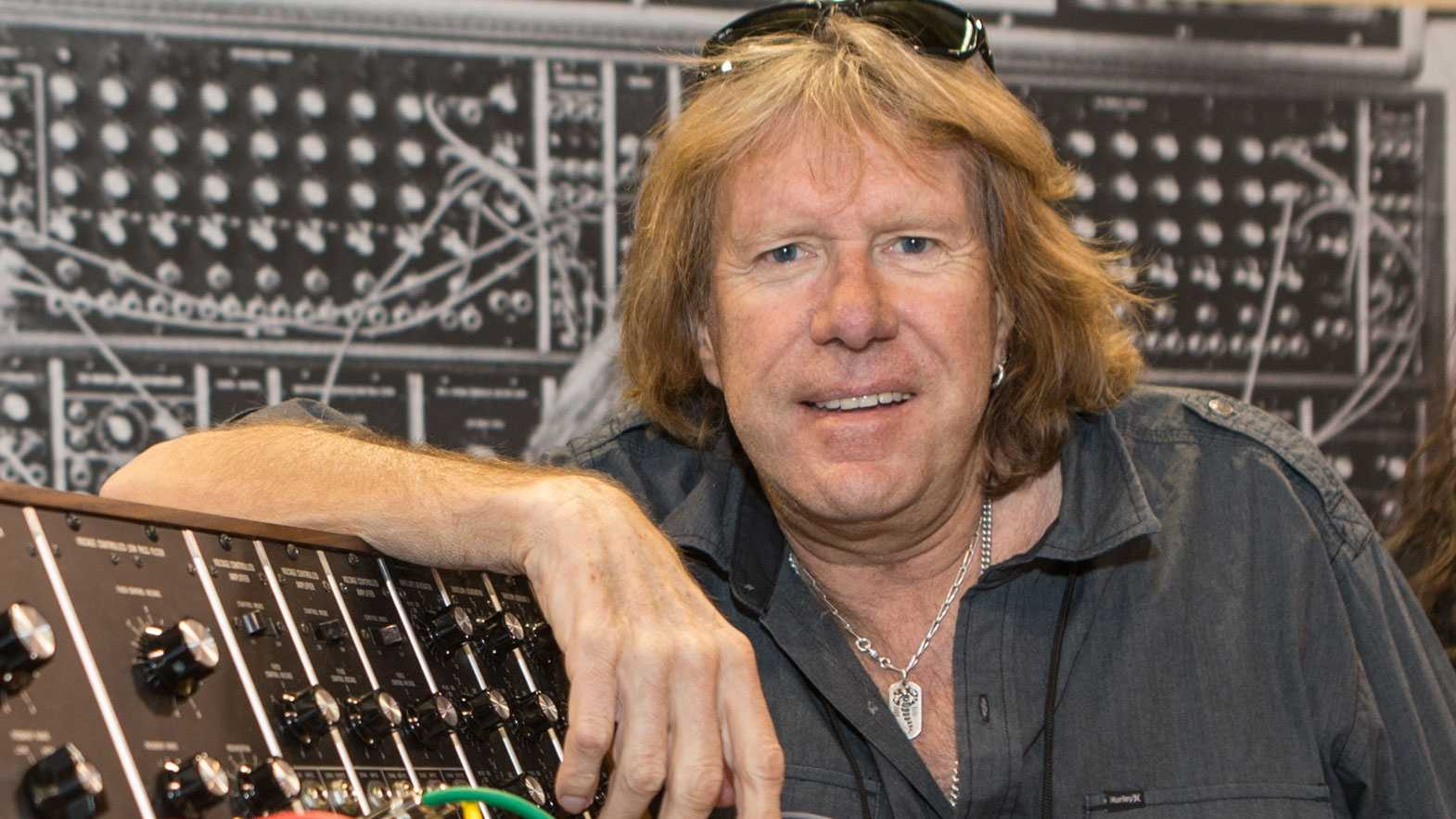 Keith Emerson, of Emerson, Lake & Palmer, attends the 2015 National Association of Music Merchants (NAMM) show at the Anaheim Convention Center on Friday, January 23, 2015 in Anaheim, Calif.