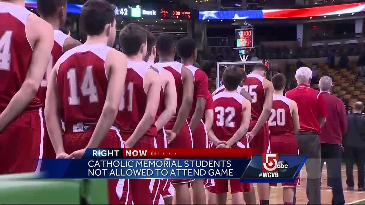 After students were involved in an Anti-semitic chant, Catholic Memorial asked students to not attend the game.
