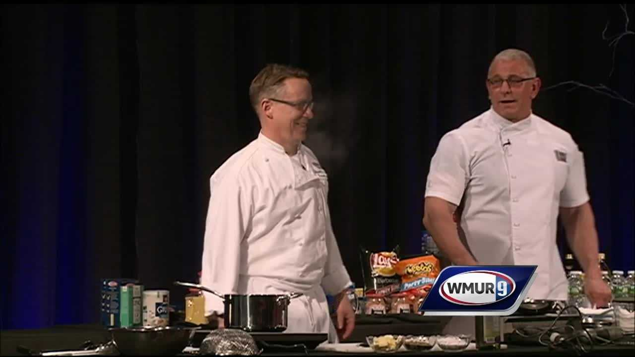 The New Hampshire Food Bank welcomed Food Network celebrity chef Robert Irvine on Monday night for a fundraiser at the Food Bank's new warehouse.