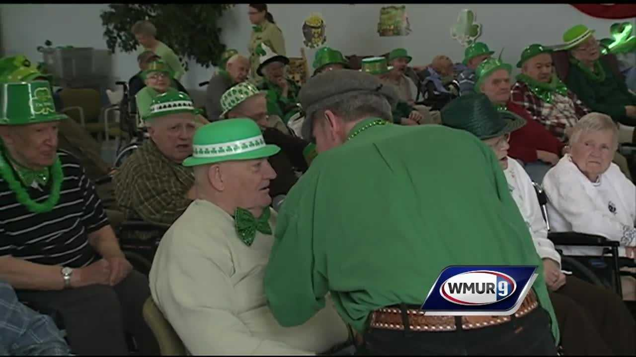 The sound of pipes and drums could be heard Thursday at the New Hampshire Veterans Home, where a St. Patrick's Day parade has been held for the past 20 years.