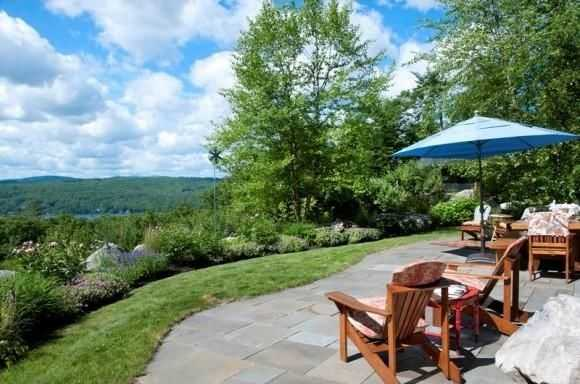 Sit on the patio and take in views of Mt. Kearsarge, Mt. Sunapee, the Mink Hills and beyond.