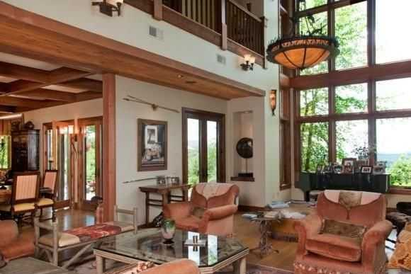 Large windows fill the home with ample lighting throughout the entire estate.