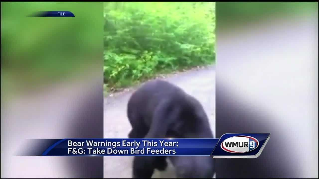 Officers ask people to take down feeders because of bears.