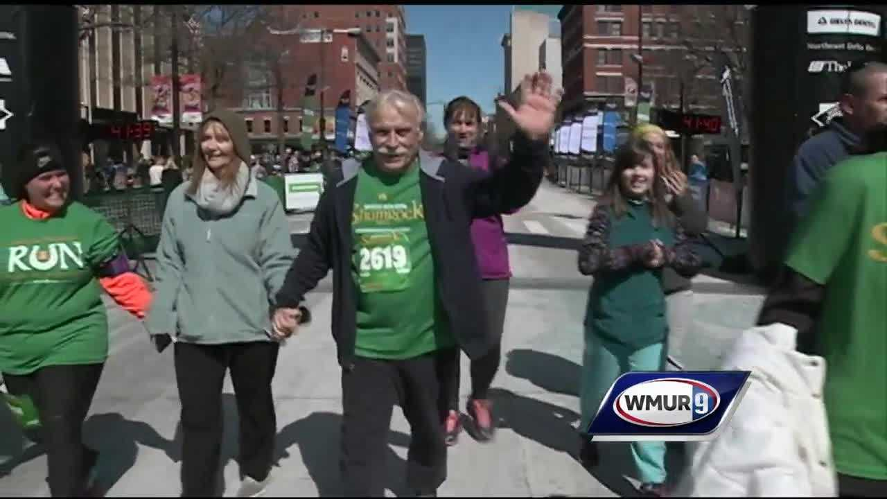 Bob Cinelli suffered a major heart attack at last years Shamrock Shuffle, now he's back again.