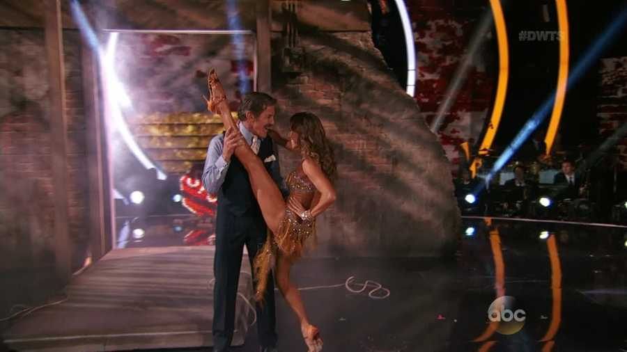"Rivera and Sliwinska danced the Cha Cha, and it was a rough performance to watch. Carrie Ann said Rivera has great charisma but ""he needs more hips!"" Len said his dancing is ""a work in progress."""