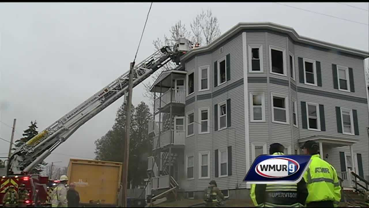 Several people were forced from their homes after an early morning apartment building fire in Manchester.