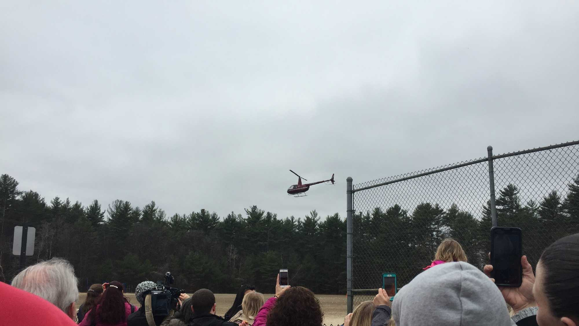 Hundreds of people gathered in Concord Sunday for a church's annual Easter Egg Drop.