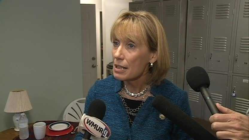 Gov. Maggie Hassan answers questions about a former Phillips Exeter Academy faculty member accused of sexual misconduct.