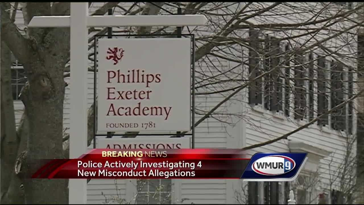 Exeter police said Tuesday they are investigating four new allegations of misconduct involving people related to Phillips Exeter Academy.