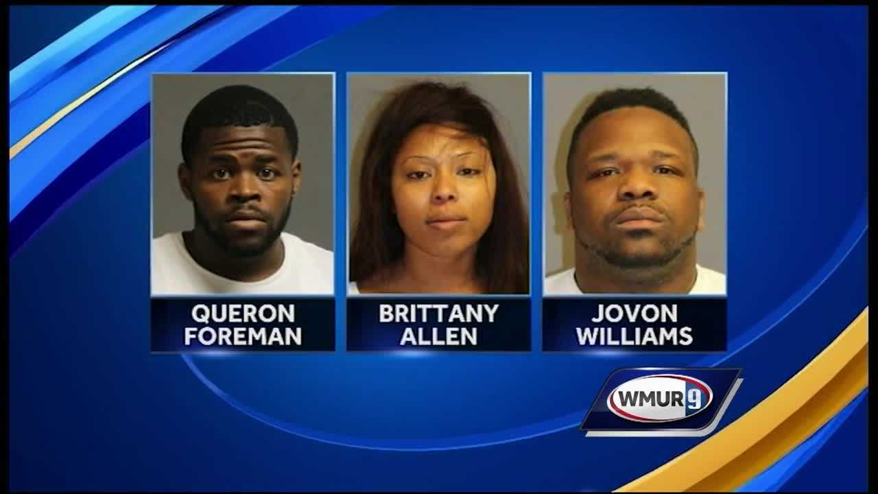 Three people accused of credit card cloning are facing felony charges after they were arrested near the Pheasant Lane Mall after a traffic stop.