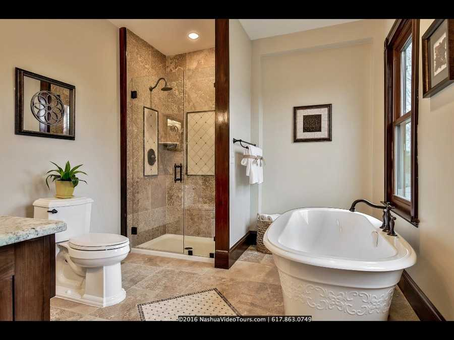 Each of the home's three bathrooms are tastefully designed.