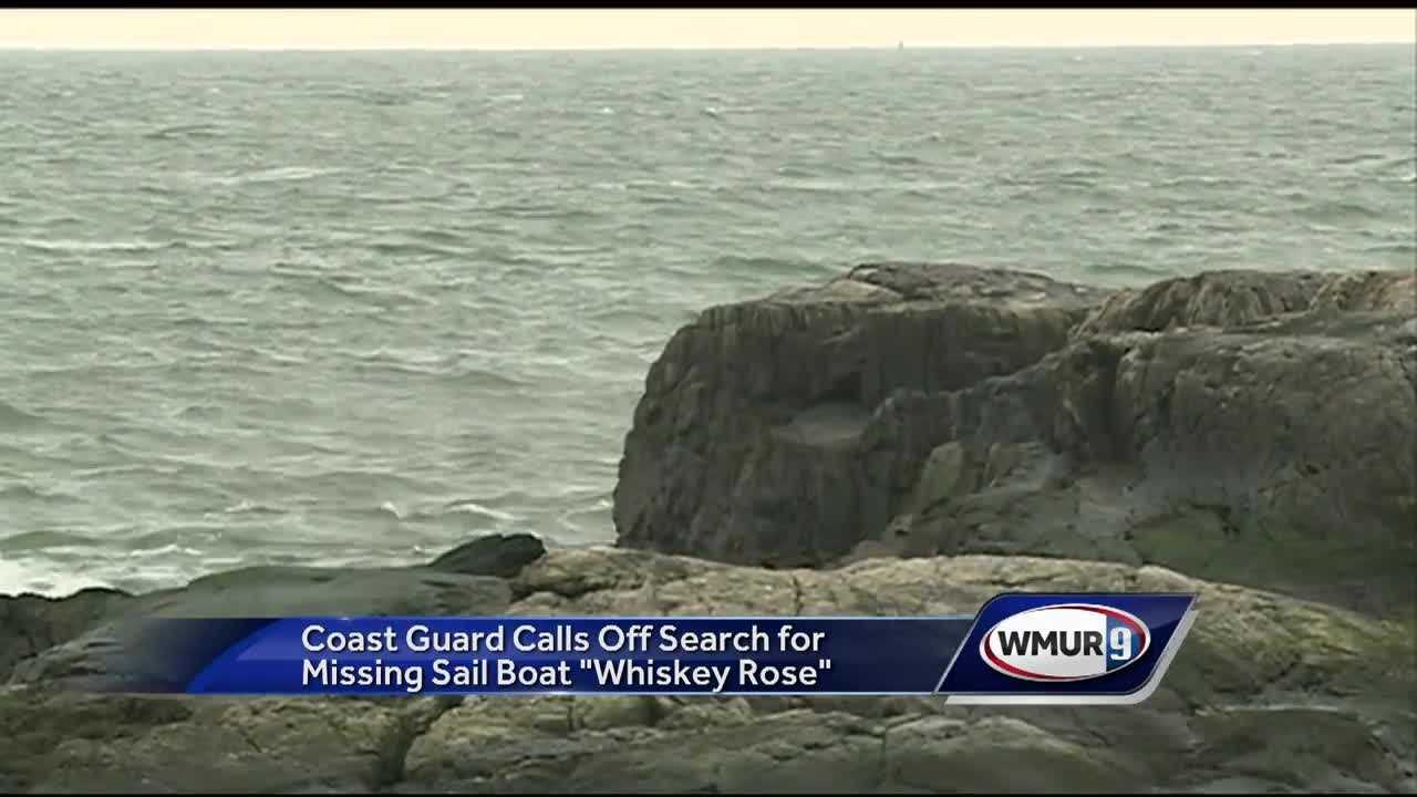 The Coast Guard suspended its search Monday for a possible sinking sailboat off the Isles of Shoals.