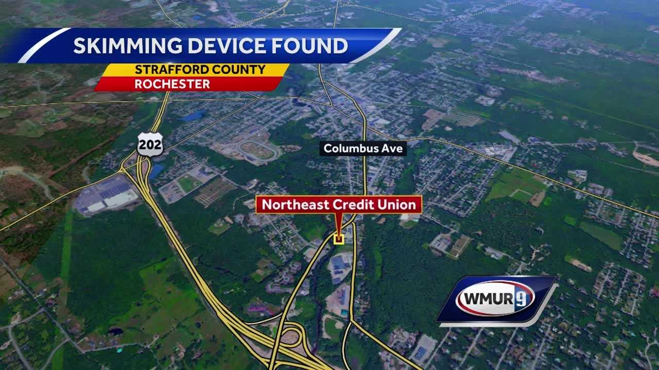A credit card skimming device was reported on a drive-through ATM in Rochester Tuesday morning.