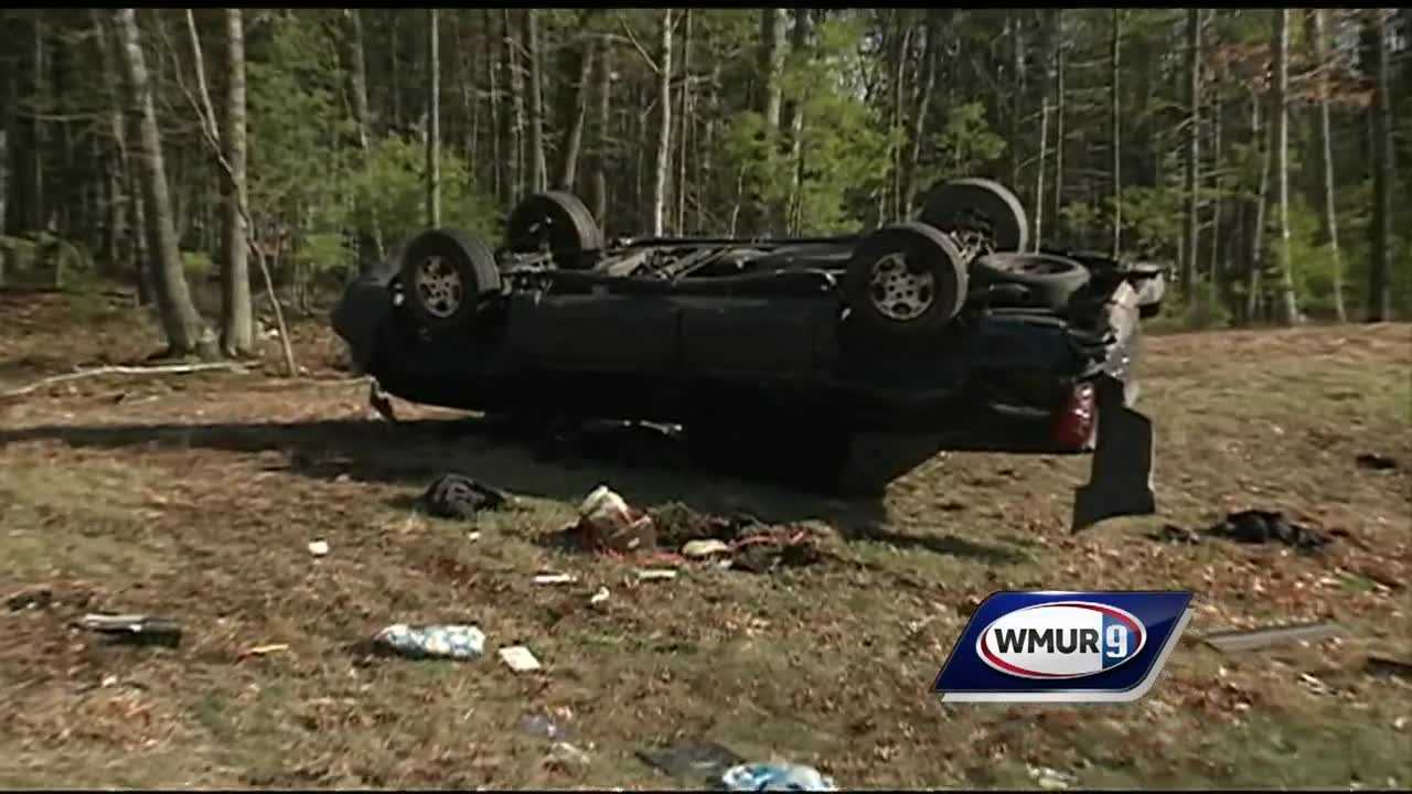 A 47-year-old man is dead and a 22-year-old woman is seriously injured following a rollover crash in Bedford Tuesday afternoon.