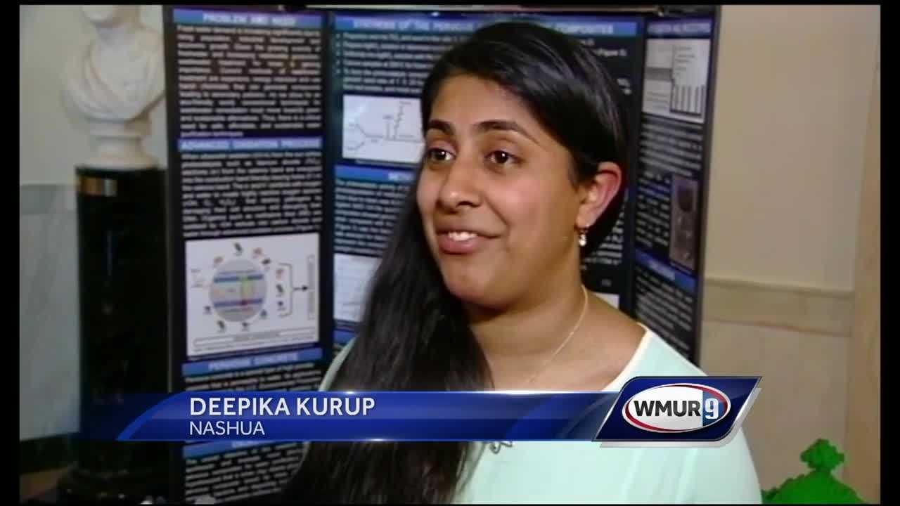 Deepika Kurup, 18, designed a solar-powered device that removes bacteria from water.