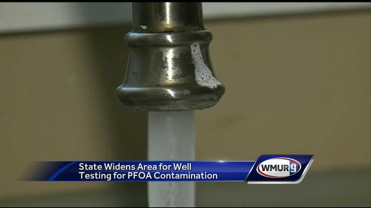 The state has expanded water tests around a facility in Merrimack to two more areas.