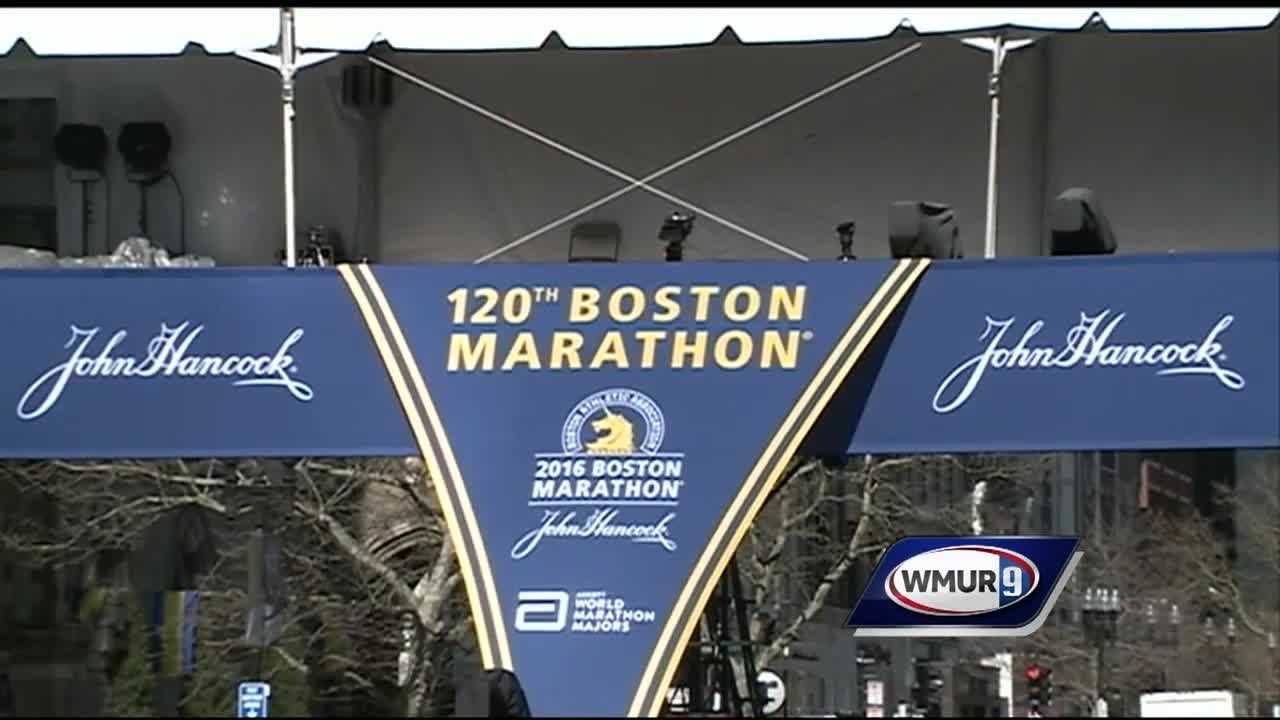 The back bay in Boston is buzzing with runners and spectators excited for Marathon Monday.