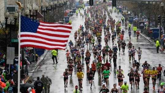 There will be 30,000 runners participating in the 120th Boston Marathon. 80% of the runners qualified based on finishing time in previous marathon.