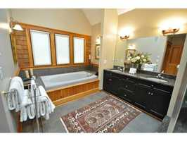 7 bathrooms are scattered throughout the home.