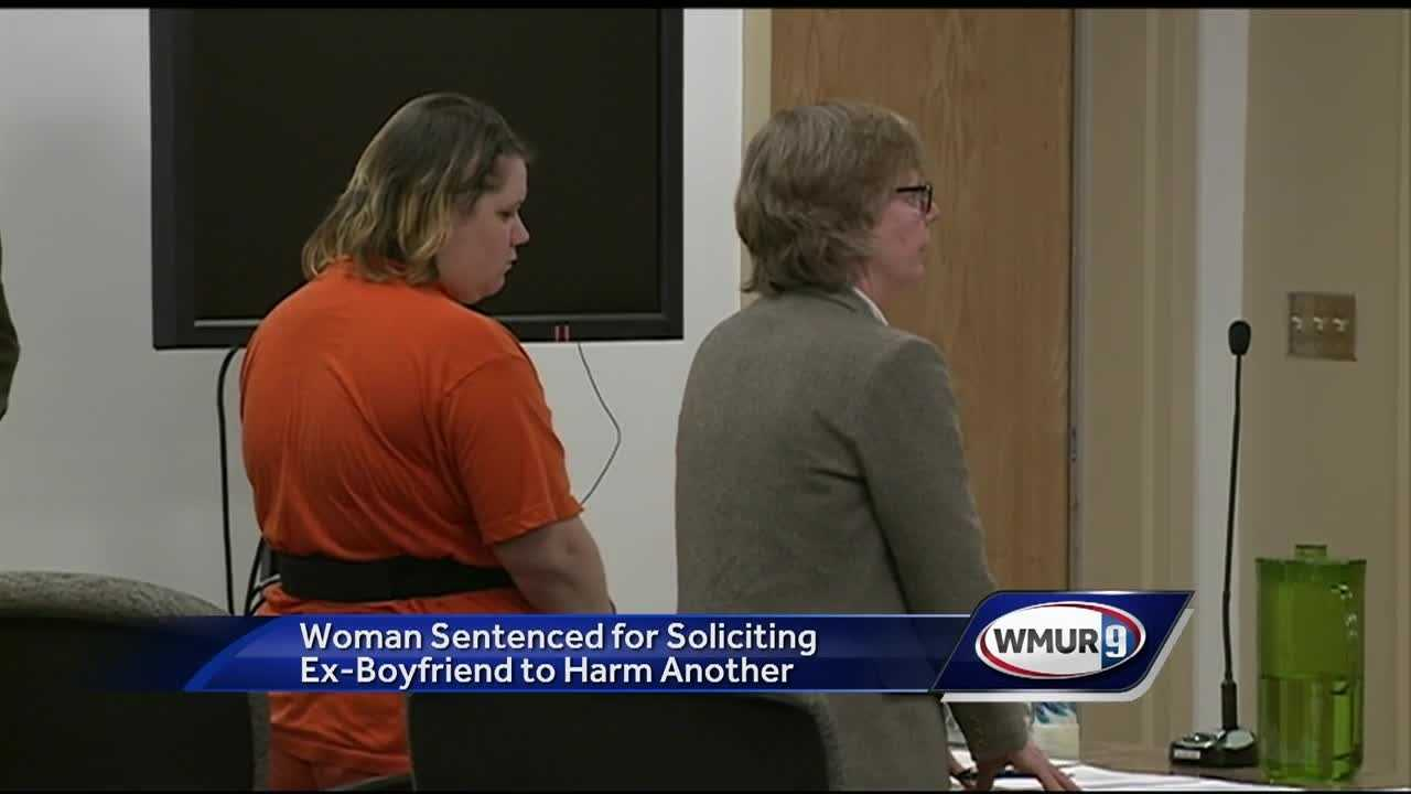 A woman from Keene accused of hiring someone to kill her estranged boyfriend pleaded guilty to a lesser charge Thursday.