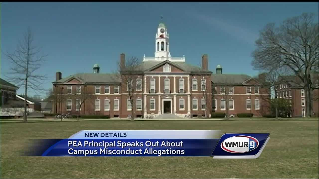 For the first time, the principal of Phillips Exeter Academy is speaking out about allegations of faculty sexual misconduct.