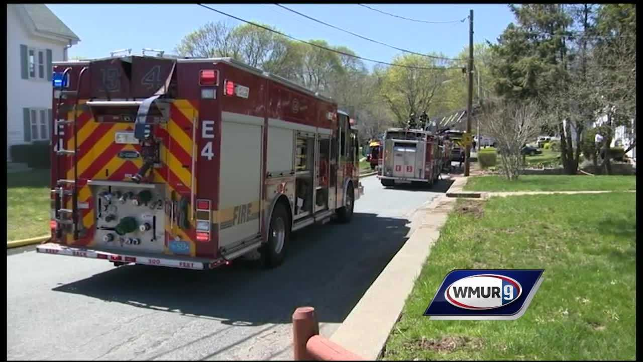 Two officers injured responding to a house fire in Walpole on Norton Avenue Sunday have been released from the hospital.