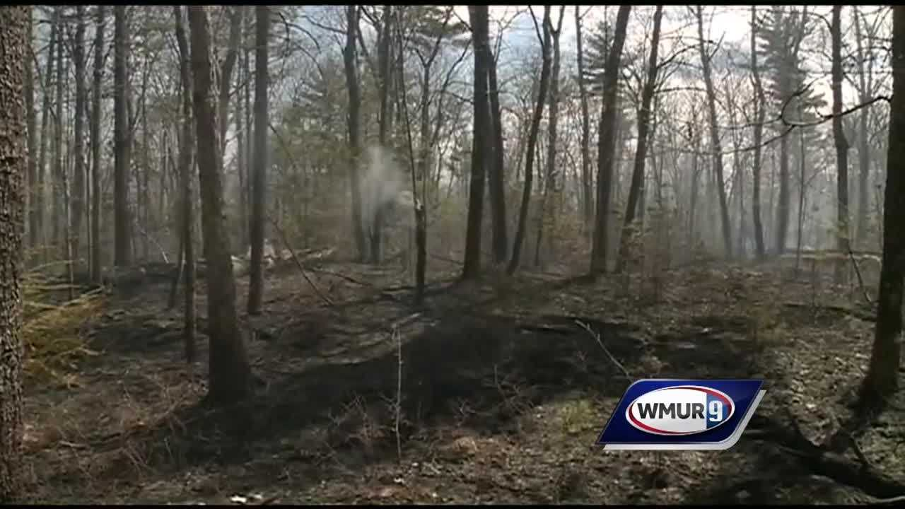 Firefighters were able to contain a 6-acre brush fire Monday in Hooksett.