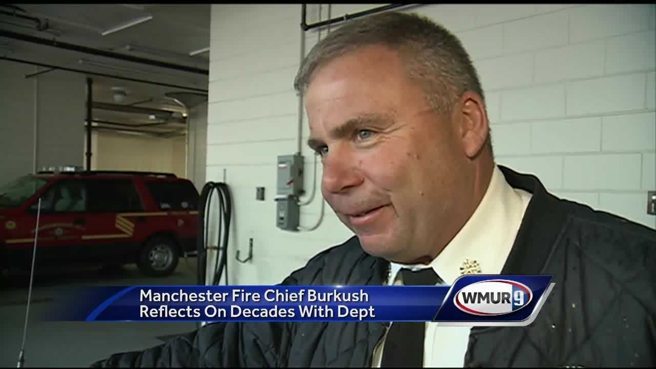 He has rescued a man from the Piscataqua River, pulled a woman out of a fourth-story burning building and even retrieved cats from trees, but Manchester Fire Chief James Burkush is now retiring after nearly 40 years on the job.