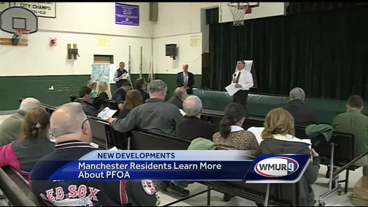 Manchester officials held their first city meeting regarding PFOA contamination.