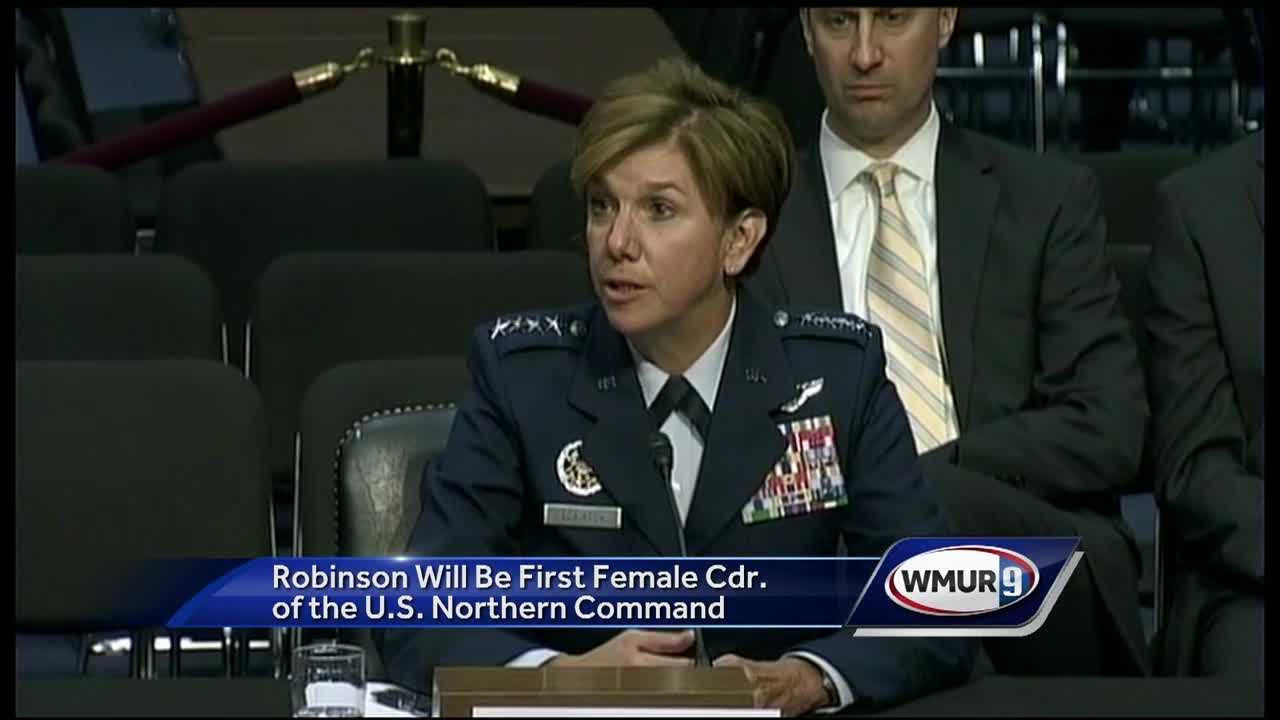 The Senate Armed Services Committee approved the nomination of Gen. Lori Robinson to be commander of the U.S. Northern Command. She is the first woman to hold the post.