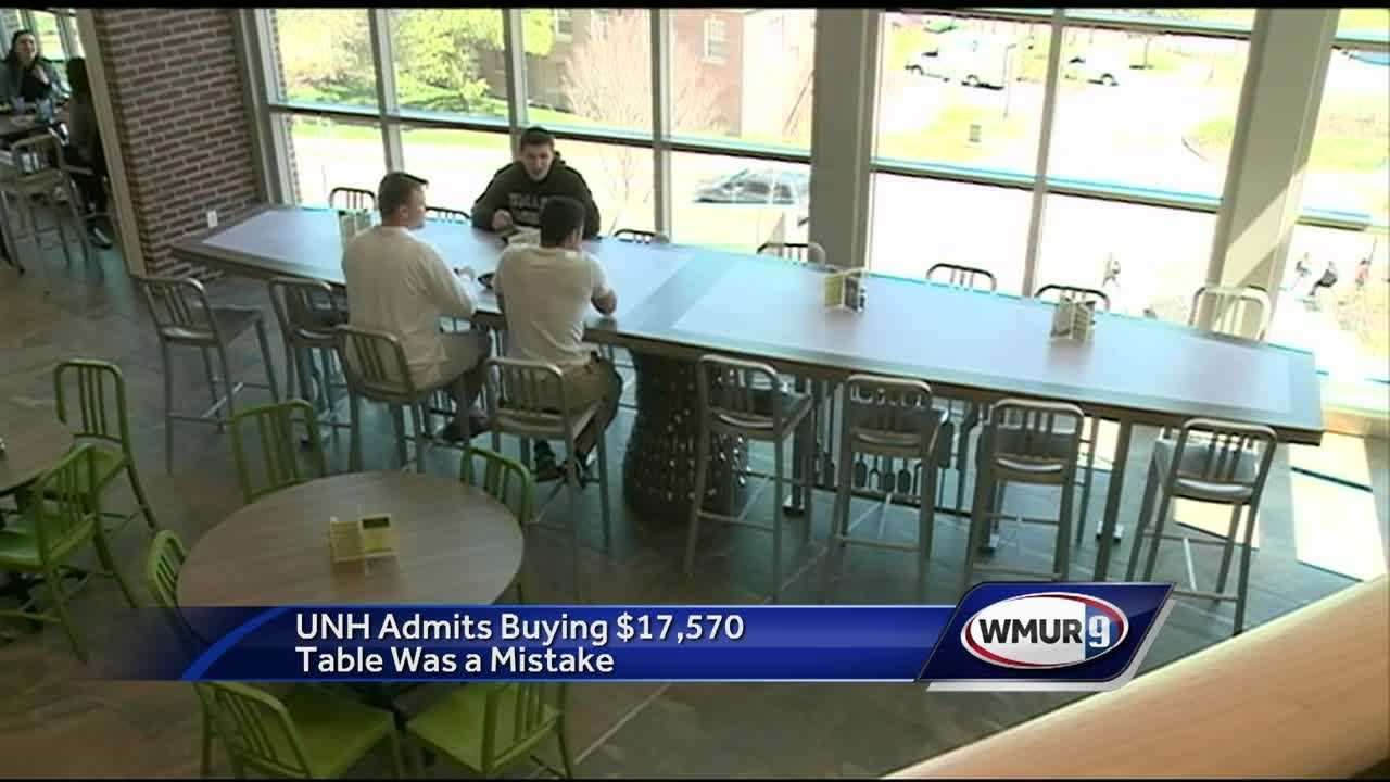 The University of New Hampshire is trying to figure out how the purchase of a $17,000 dining hall table was able to get through the approval process.