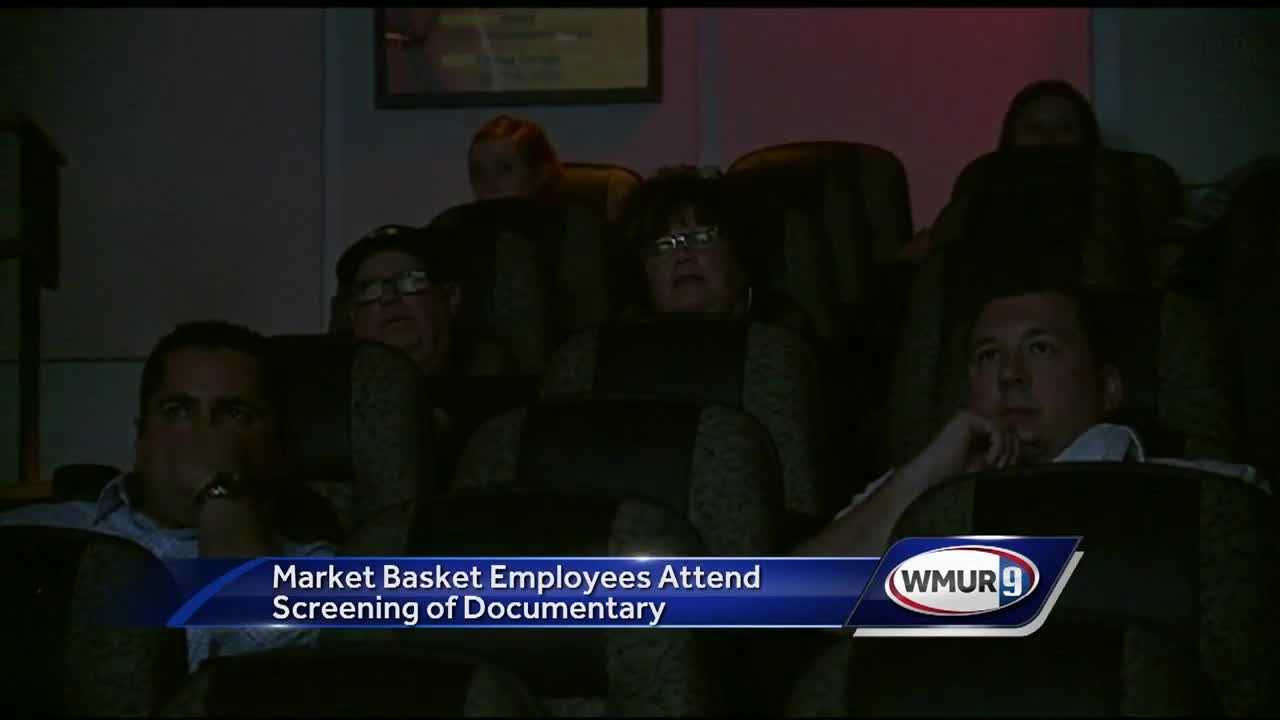 "Workers from three Market Basket stores were invited to Red River Theaters in Concord for a special screening of ""Food Fight: Inside the Battle for Market Basket."""