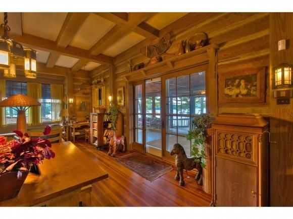 Each room has high ceilings and are furnished with hardwood.